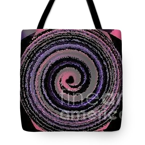 Tote Bag featuring the digital art She Wirls by Catherine Lott