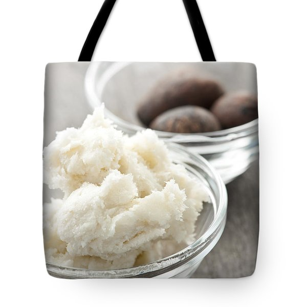 Shea Butter And Nuts In Bowls Tote Bag by Elena Elisseeva