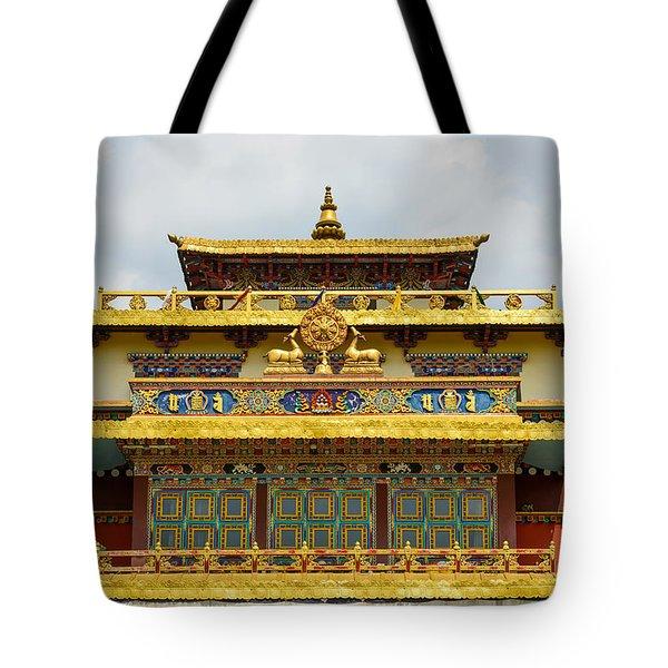 Shechen Monastery In Kathmandu Tote Bag
