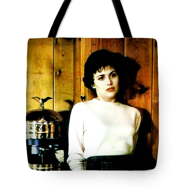 Tote Bag featuring the painting Shed Been Murdered by Luis Ludzska