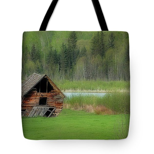 Shed By The Lake Tote Bag