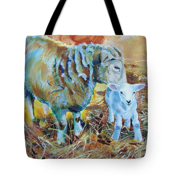 Sheep And Lamb Tote Bag