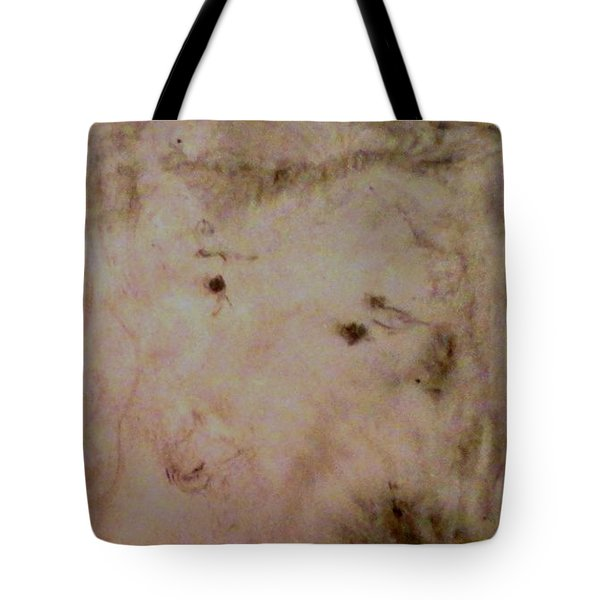 Tote Bag featuring the painting Sheep Dog by Mike Breau