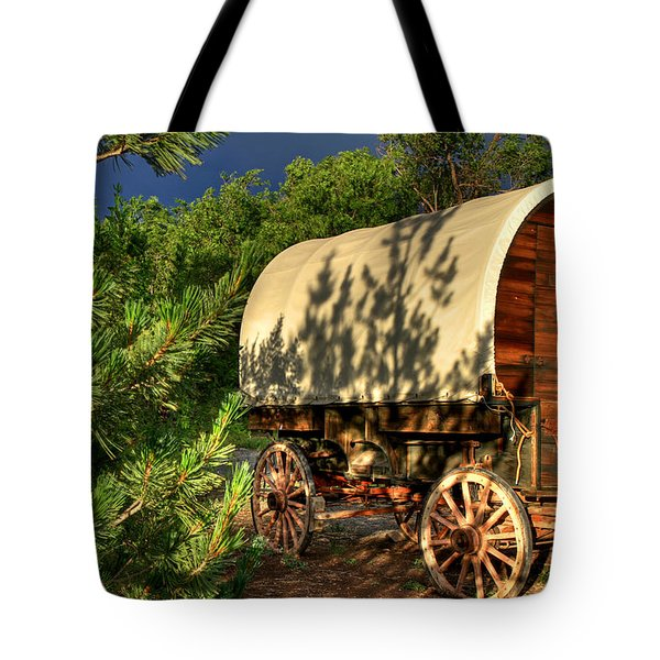 Sheep Herder's Wagon Tote Bag
