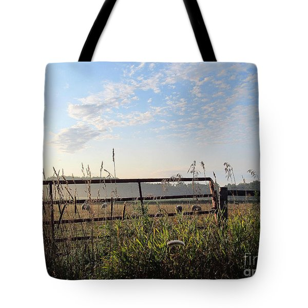 Sheep In The Meadow Tote Bag by Tina M Wenger