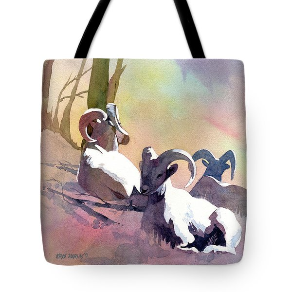 Sheep Shape Tote Bag by Kris Parins