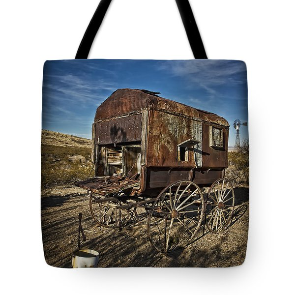 Sheepherder's Wagon At Shakespeare Nm Tote Bag