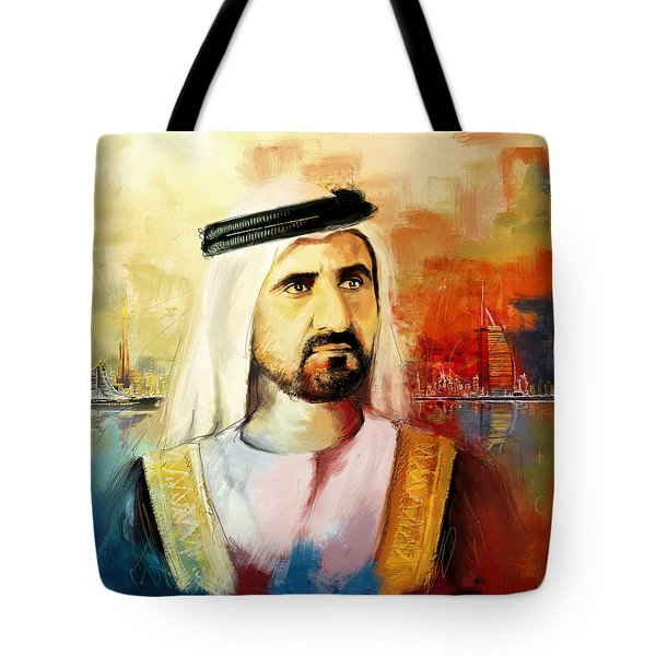 Sheikh Mohammed Bin Rashid Al Maktoum Tote Bag by Corporate Art Task Force