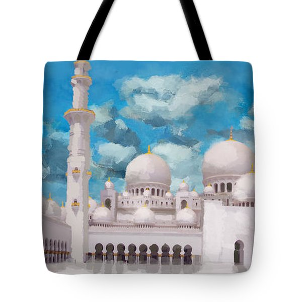 Sheikh Zayed Mosque Tote Bag by Catf
