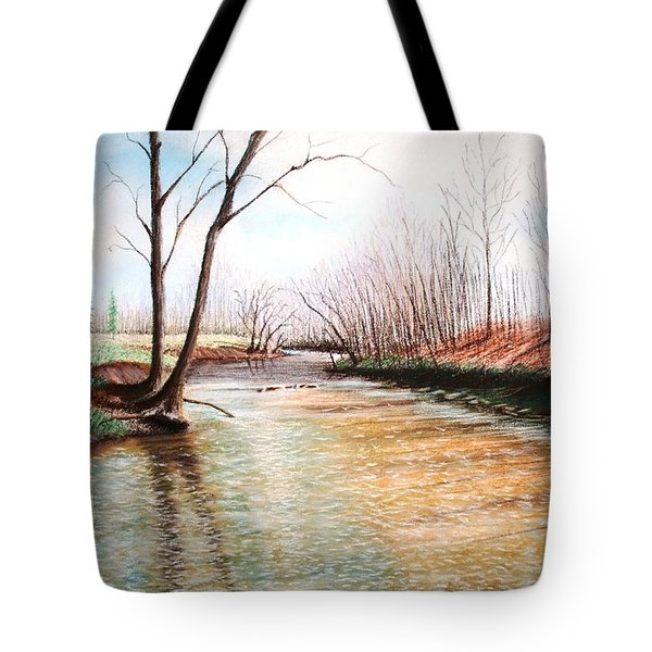 Tote Bag featuring the pastel Shelby Stream by Stacy C Bottoms