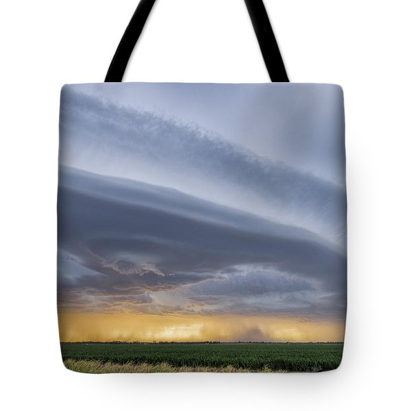 Tote Bag featuring the photograph Shelf Clouds by Rob Graham