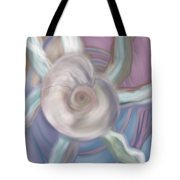 Shell Act Tote Bag by Christine Fournier