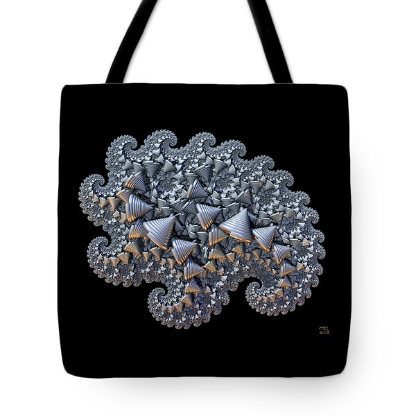 Tote Bag featuring the digital art Shell Amoeba by Manny Lorenzo