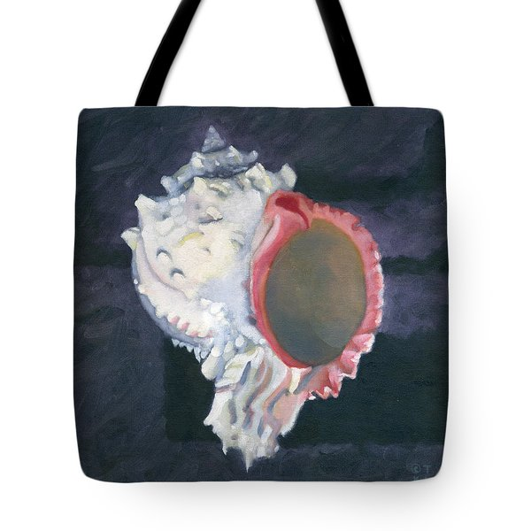 Shell In Opaque Sea Tote Bag