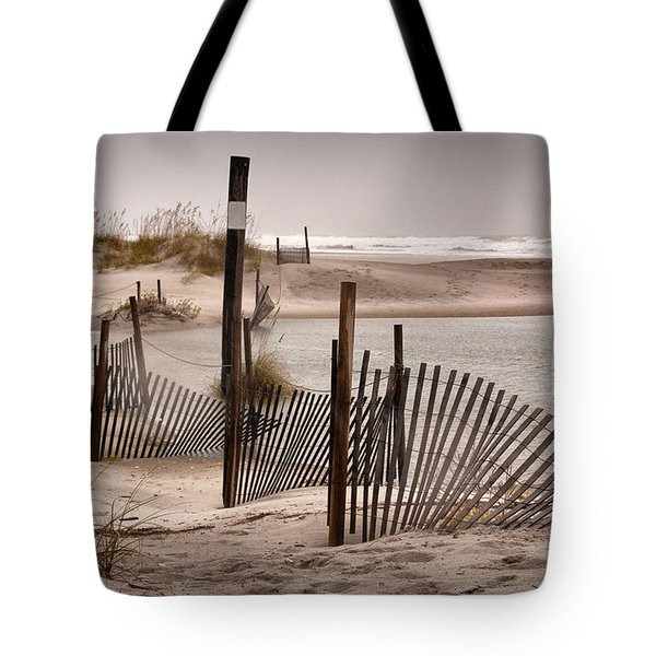 Tote Bag featuring the photograph Shell Island Hurricane Sandy by Phil Mancuso
