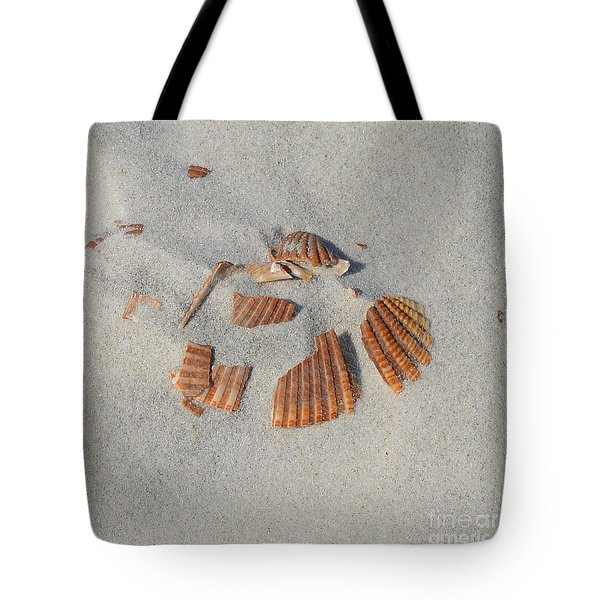 Shell Jigsaw Tote Bag by Meandering Photography