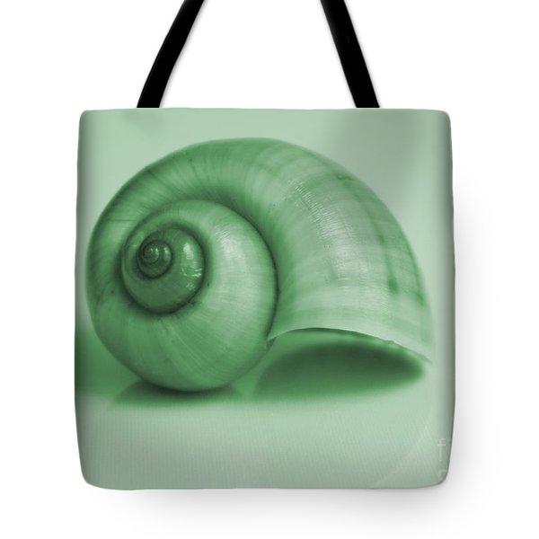 Shell. Light Green Tote Bag