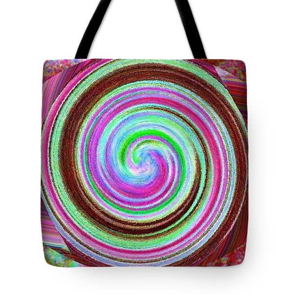 Tote Bag featuring the digital art Shell Shocked by Catherine Lott