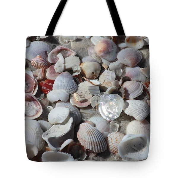 Shells On Treasure Island Tote Bag by Carol Groenen