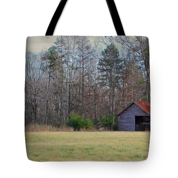 Shelter In The Midle Of Nowhere Tote Bag by Paulette B Wright