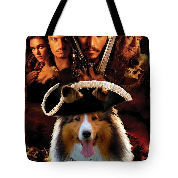 Sheltie - Shetland Sheepdog Art Canvas Print - Pirates Of The Caribbean The Curse Of The Black Pearl Tote Bag