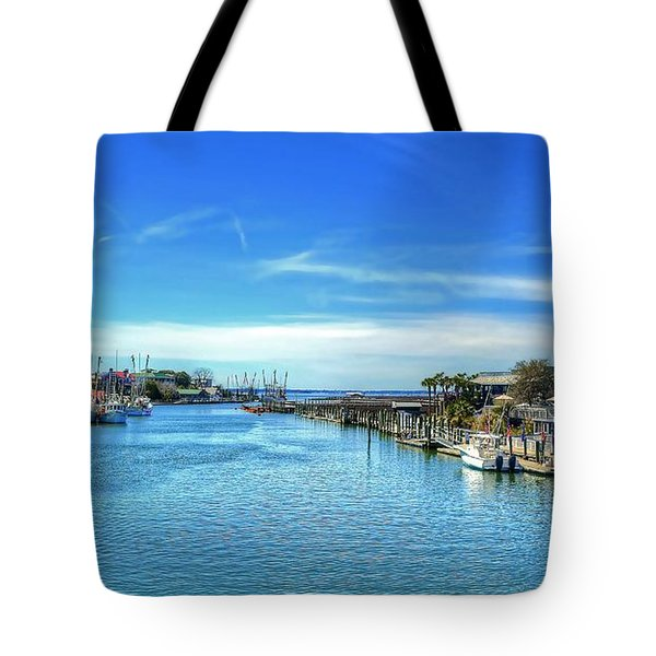 Tote Bag featuring the photograph Shem Creek by Kathy Baccari