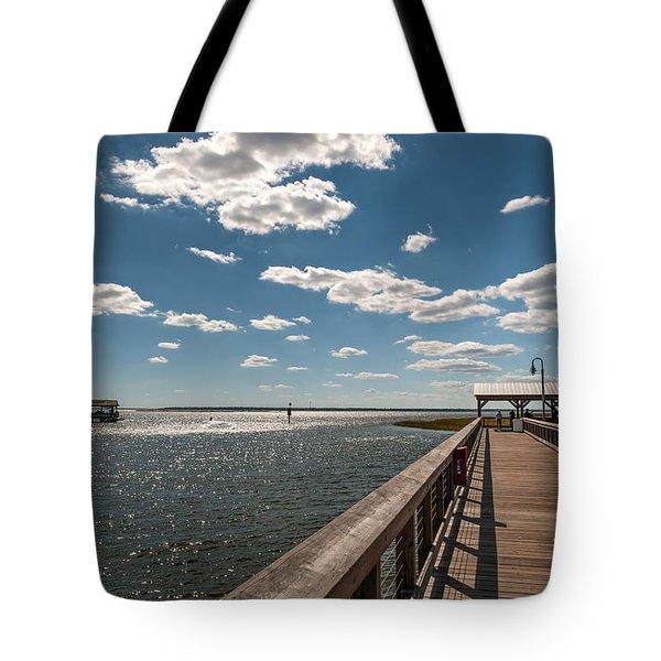 Shem Creek Pavilion  Tote Bag