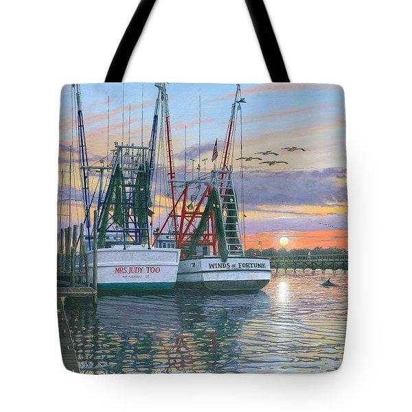 Shem Creek Shrimpers Charleston  Tote Bag
