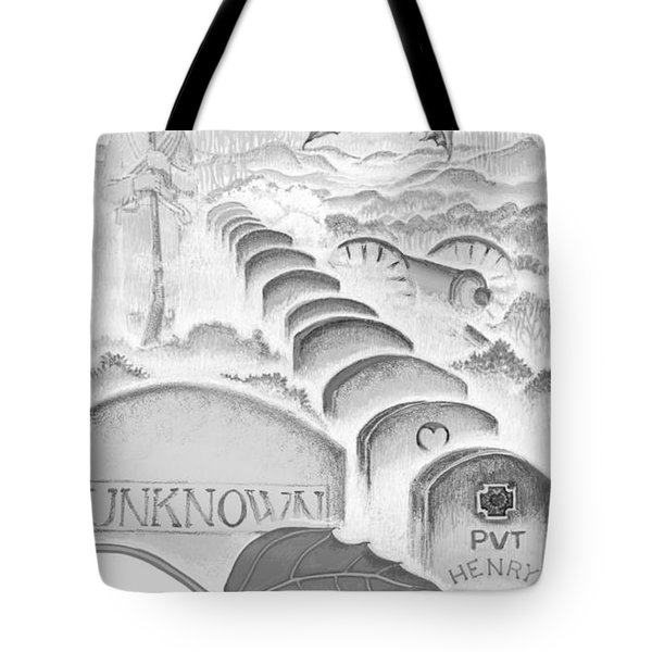 Tote Bag featuring the digital art Shenandoah  by Carol Jacobs