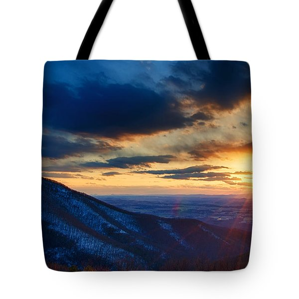 Shenandoah Sunset Tote Bag by Joan Carroll