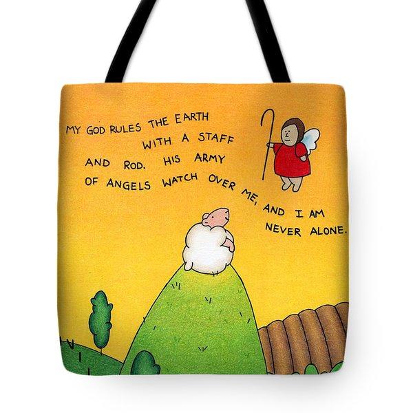 Shepherd Angel Tote Bag by Sarah Batalka