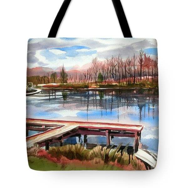 Shepherd Mountain Lake In Winter Tote Bag