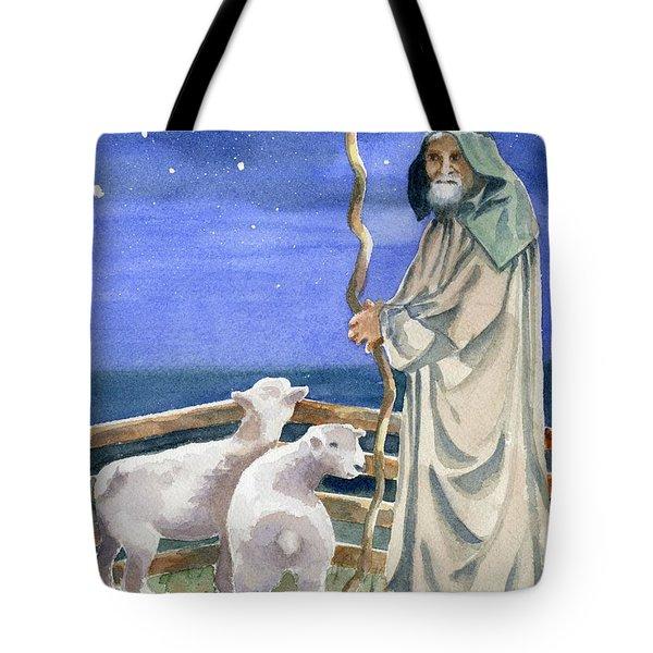 Shepherds Watched Their Flocks By Night Tote Bag