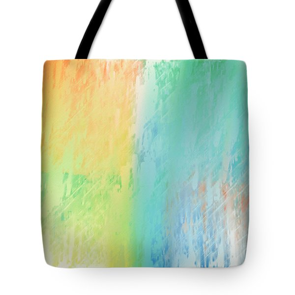 Sherbet Abstract Tote Bag by Andee Design