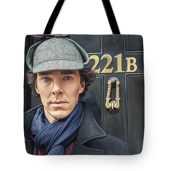 Tote Bag featuring the painting Sherlock Holmes Artwork by Sheraz A