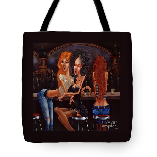 Sherry Chambord And Cognac -  Girls Night Out 1998 Tote Bag by Larry Preston