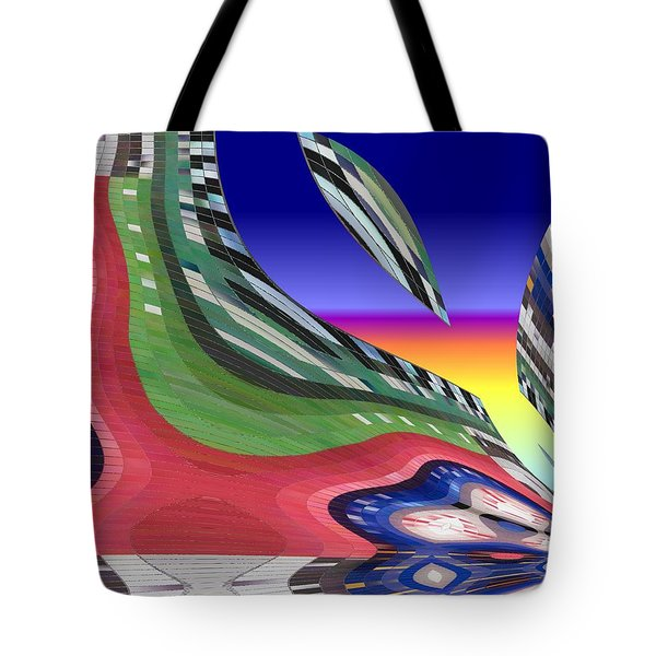 She's Leaving Home Abstract Tote Bag by Alec Drake