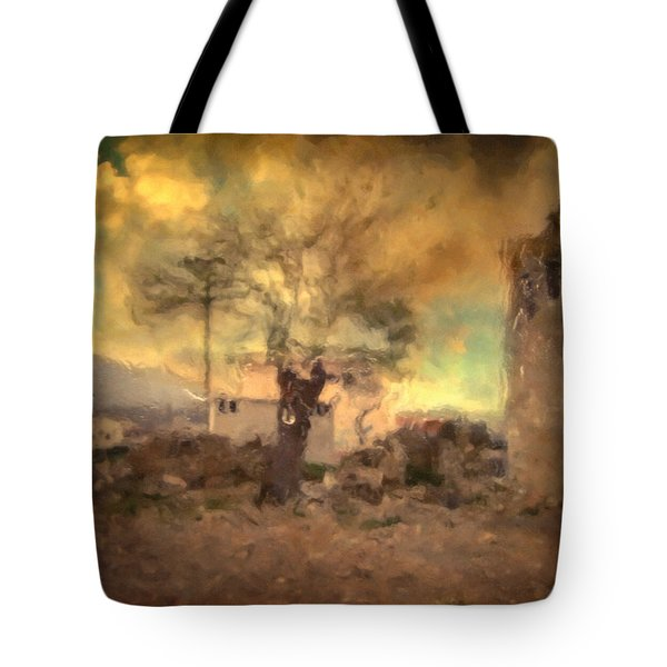 She's Like The Wind ...through My Tree Tote Bag by Taylan Apukovska