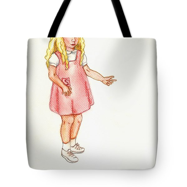 Tote Bag featuring the pastel Shez by Kim Pate