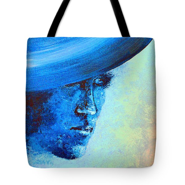 Shi Di Has The Blues Poster Tote Bag by Alys Caviness-Gober