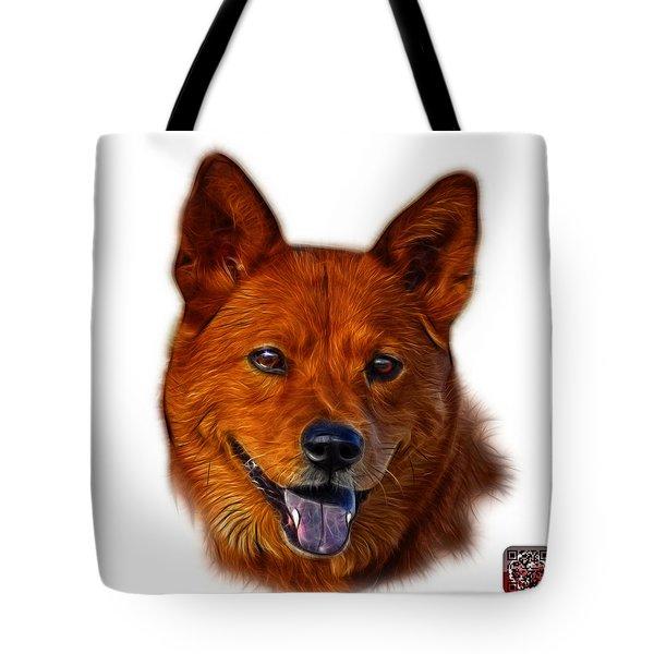 Tote Bag featuring the mixed media Shiba Inu Dog Art - 8555 - Wb by James Ahn