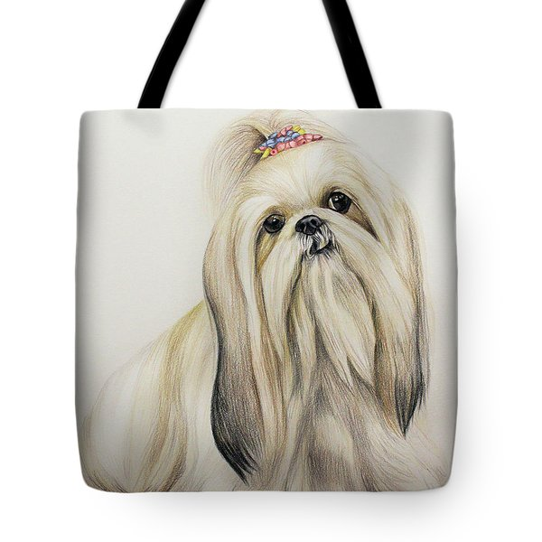 Shih Tzu Tote Bag by Lena Auxier