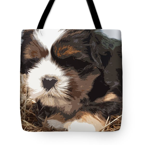 Shih Tzu On A String Tote Bag by Robert Margetts