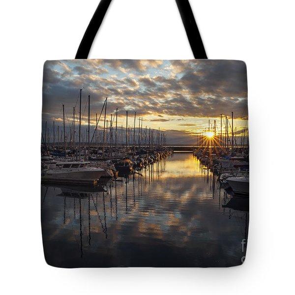 Shilshole Marina Sunstar Tote Bag