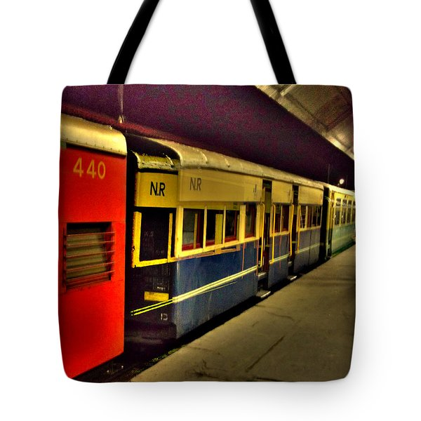 Shimla Toy Train Tote Bag by Salman Ravish