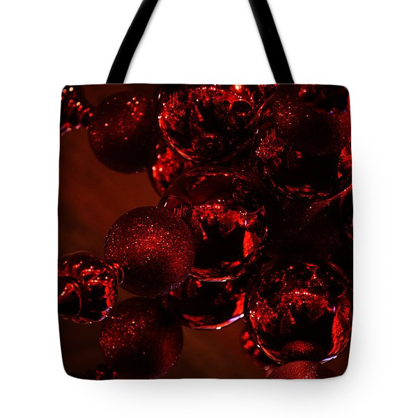 Shimmer In Red Tote Bag