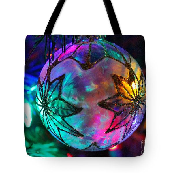 Tote Bag featuring the photograph Shimmering Multifacted Glow by Judy Palkimas