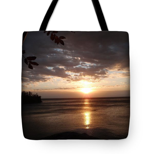 Tote Bag featuring the photograph Shimmering Sunrise by James Peterson