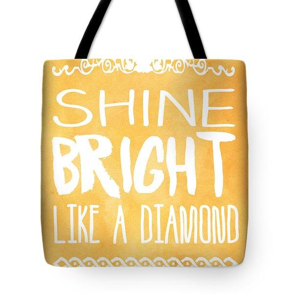 Shine Bright Orange Tote Bag