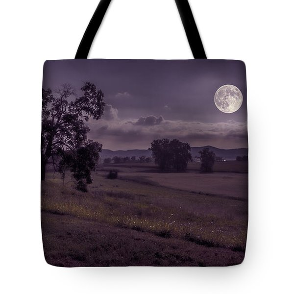 Tote Bag featuring the photograph Shine On Harvest Moon by Jaki Miller